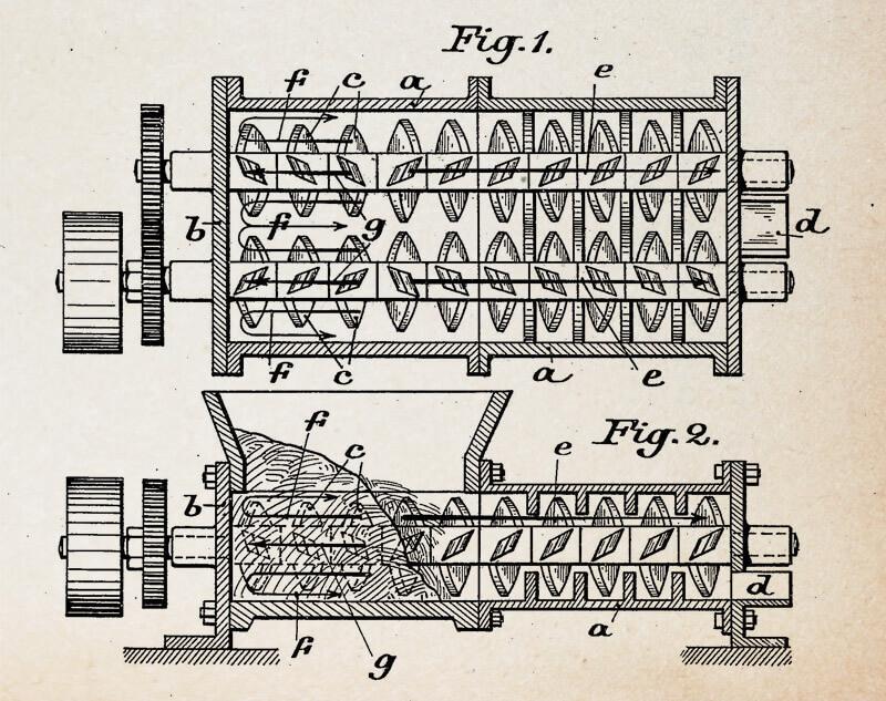 Patentzeichnung zum Wurster-Zerfaserer