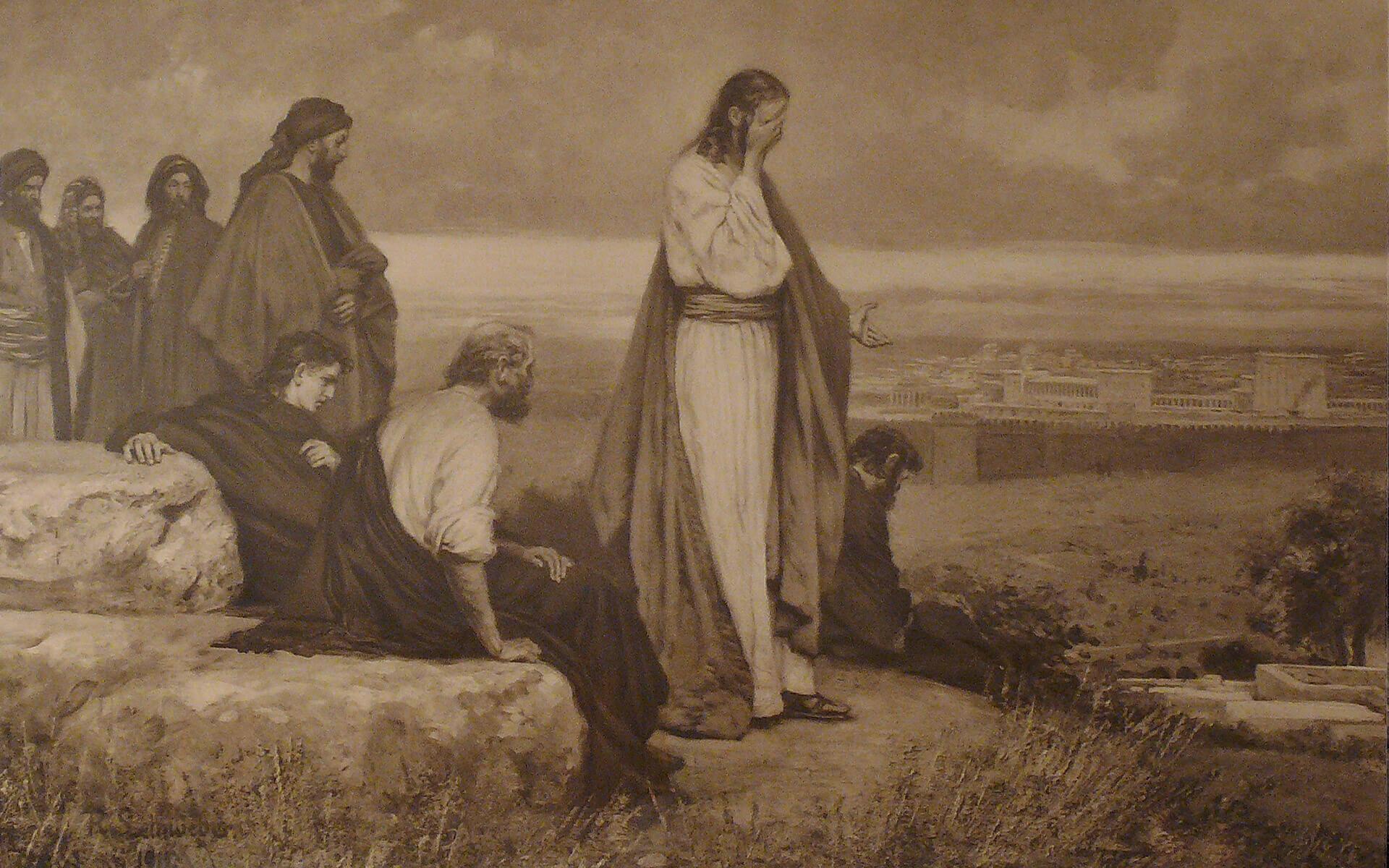 Und Christus weinte über sie