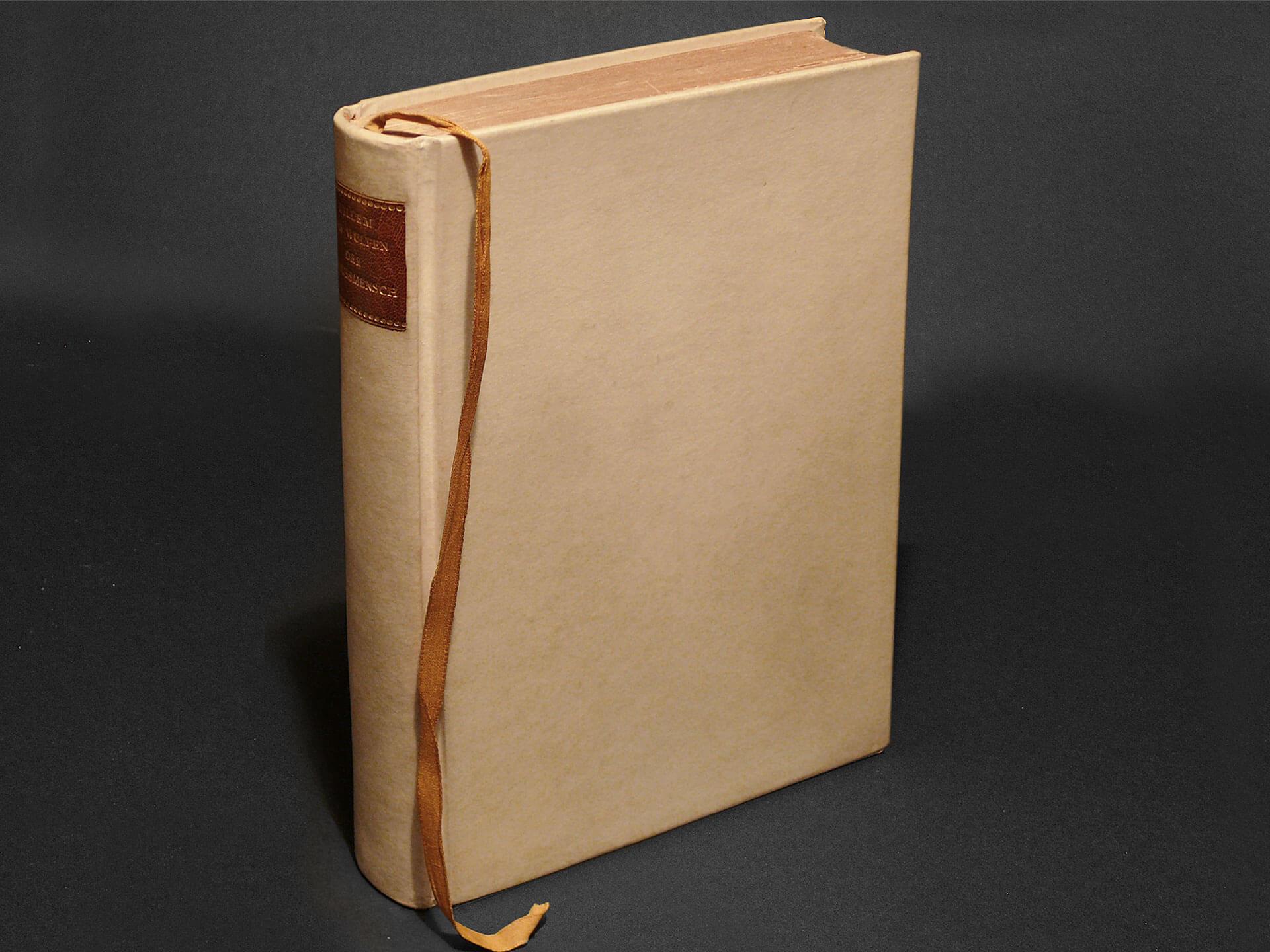 Die Erstausgabe in 65 Exemplaren im Einband von Carl Sonntag jun.
