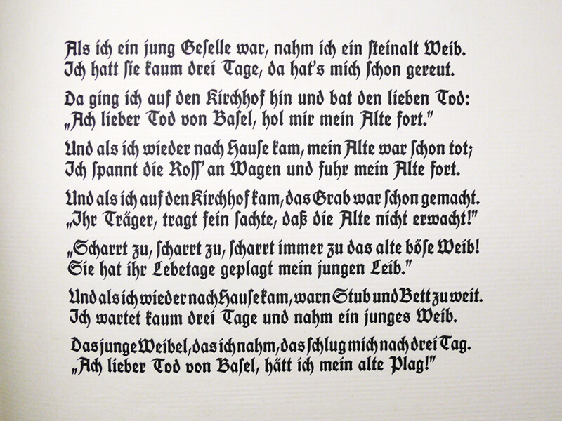 Schiestl: Der Tod von Basel – Gedichttext